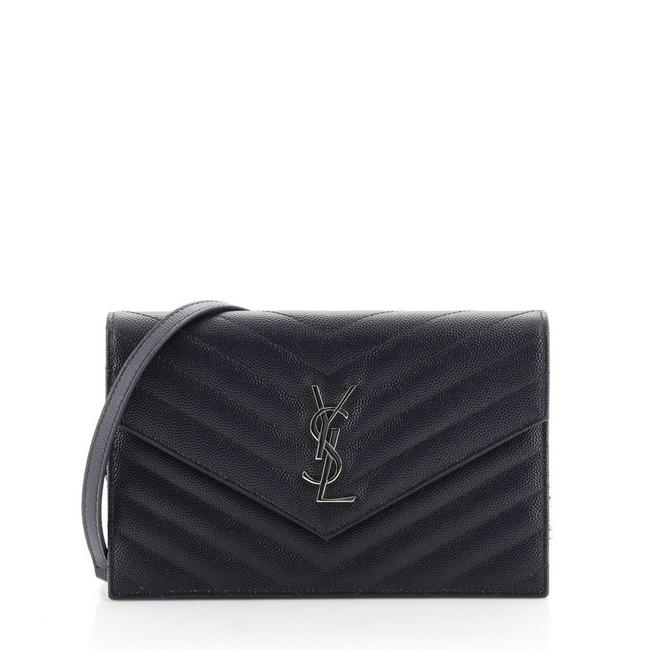 Item - Blue on Chain Classic Monogram Matelasse Chevron Leather Small Wallet