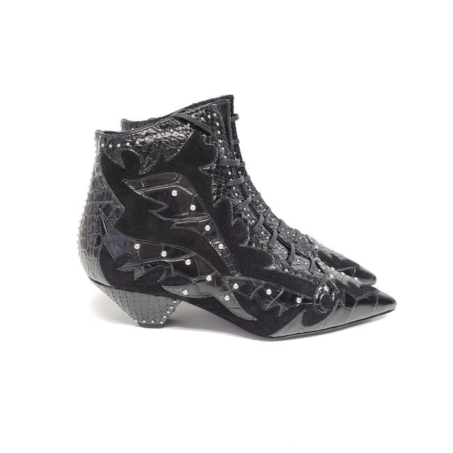 Item - Black Blaze Studded Leather Suede Ankle Boots/Booties Size EU 37 (Approx. US 7) Regular (M, B)