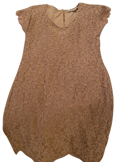 Item - Nude Short Sleeve Mid-length Night Out Dress Size 2 (XS)