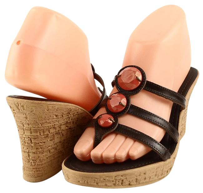 Matisse Chocolate Premier Leather Thong Slides Sandals Size US 9 Regular (M, B) Matisse Chocolate Premier Leather Thong Slides Sandals Size US 9 Regular (M, B) Image 1