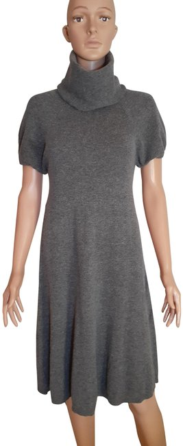 Item - Gray Bh188gm Mid-length Short Casual Dress Size 4 (S)