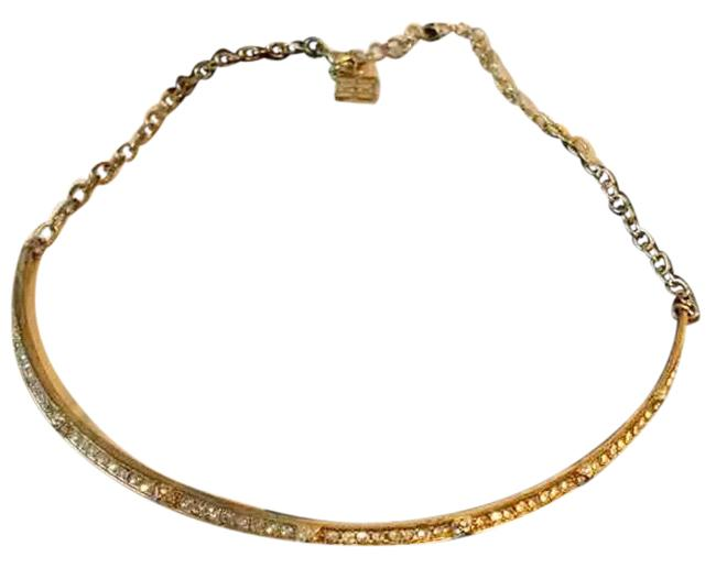 Item - Gold W W/Rhinestones Necklace