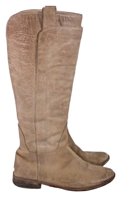Item - Tan Tall Leather Riding Boots/Booties Size US 7.5 Regular (M, B)