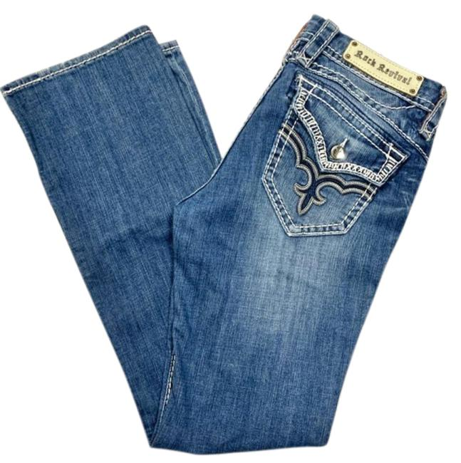 Item - Blue Lightly Distressed May Boot Cut Jeans Size 27 (4, S)