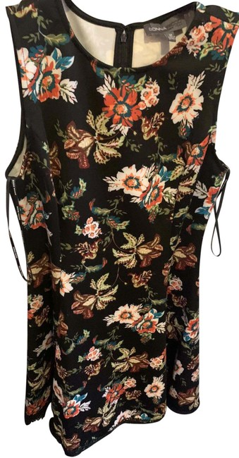 Item - Multicolored Floral Print Mid-length Cocktail Dress Size 10 (M)