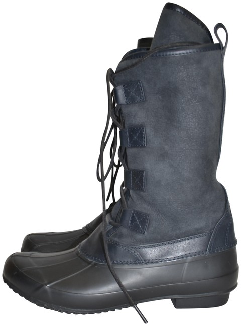 Item - Black Navy 'argyll' Lace-up Snow Shearling (Jb15) Boots/Booties Size US 9 Regular (M, B)