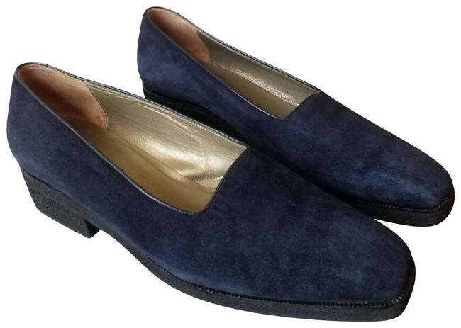 Item - Blue 7.5 Navy Suede Square Toe Loafers Flats Size EU 38 (Approx. US 8) Regular (M, B)