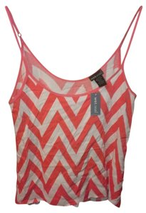Wet Seal Chevron Top Coral