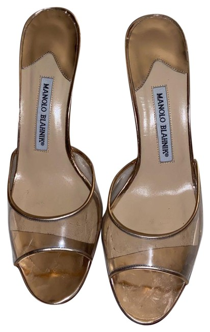 Item - Rose Gold/Clear Band Pumps Size US 6 Regular (M, B)