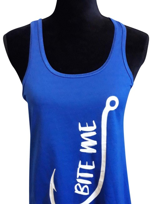 Item - Blue and White Loose Flowing Tank Top/Cami Size 10 (M)