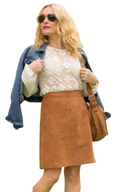 Item - Brown Leather Skirt Size 6 (S, 28)