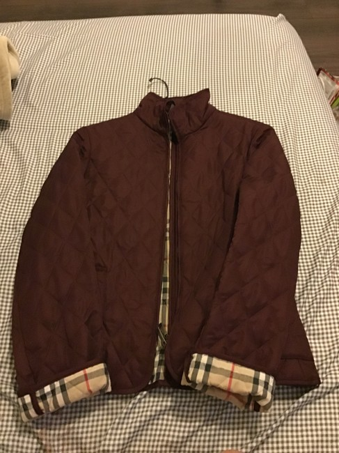 Item - Dark Red Quilted Jacket Size 0 (XS)