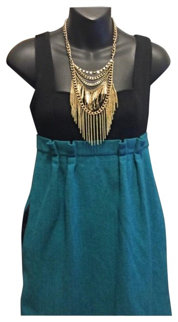 Item - Turquoise Black Dvf Empire Waist Short Casual Dress Size 6 (S)