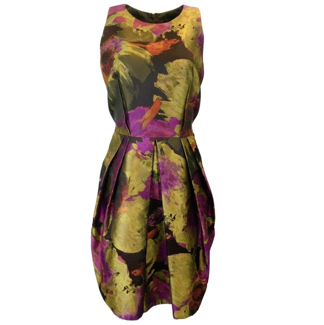Item - Magenta Jacquard Satin Sleeveless Formal Dress Size 12 (L)
