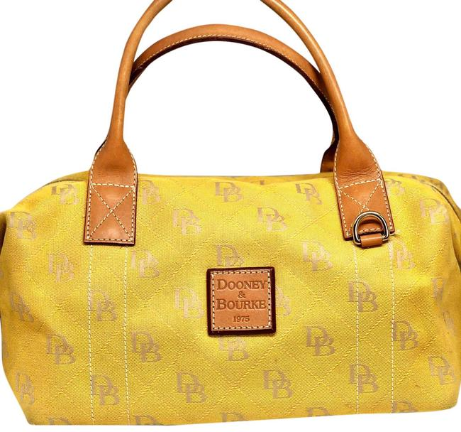 Item - And Yellow Canvas Satchel