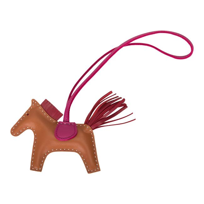 Item - Multicolor Gold/Rubis/Rose Pourpre Grigri Horse Rodeo Bag Charm Pm