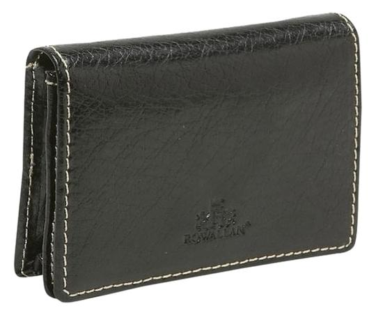 Rowallan Rowallan Leather Card Case Wallet Black New in Box
