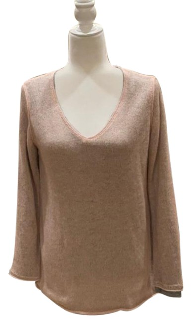 Item - Nwot Jeans Lined V-neck Size S Pink and Gray Sweater