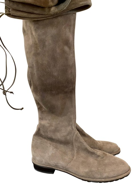 Item - Taupe Lowland Suede Over The Knee Boots/Booties Size US 7 Regular (M, B)