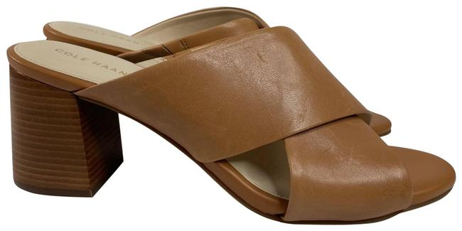 "Item - Tan Nwob ""Dakota"" Criss Sandal Mules/Slides Size US 9 Regular (M, B)"