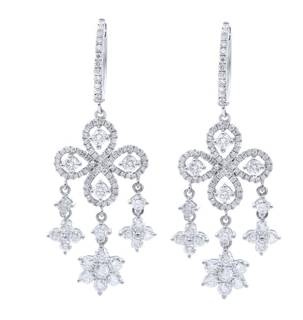 Item - 18k Yellow Gold Diamond Chandelier Ladies 3.85cttw Earrings