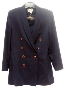 Casual Corner NAVY SUIT W/ STRAIGHT SKIRT-GREAT BUTTONS