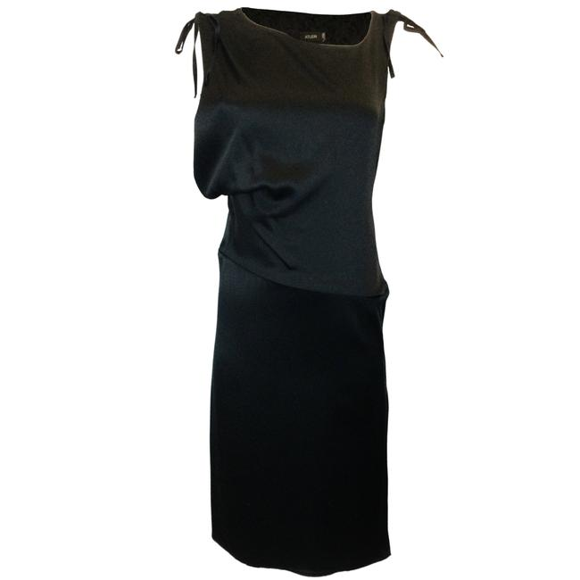 Item - Black Sleeveless Satin Formal Dress Size 8 (M)