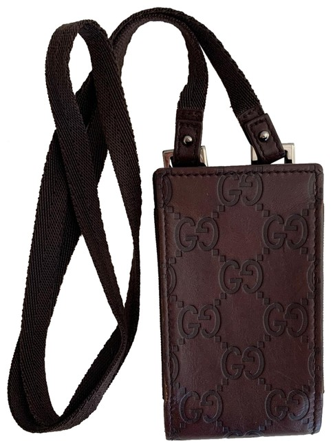 Item - Brown Monogram Leather Phone Case Lanyard Tech Accessory