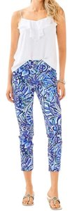 Lilly Pulitzer Capris Blue White