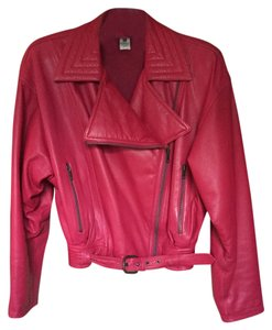 Emanuel Ungaro Vintage Pink Leather Jacket