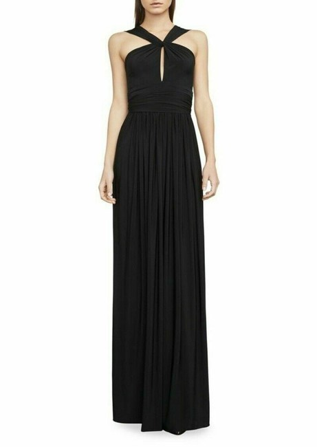 Item - Black Jersey Carly Knit Draped Gown In S Long Casual Maxi Dress Size 4 (S)