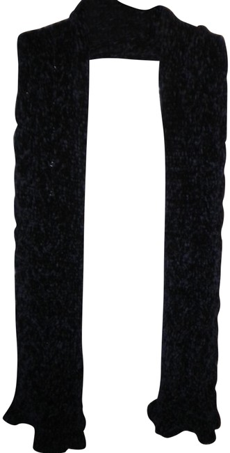 Item - Navy Cable Ruffle Chenille Muffler Scarf/Wrap