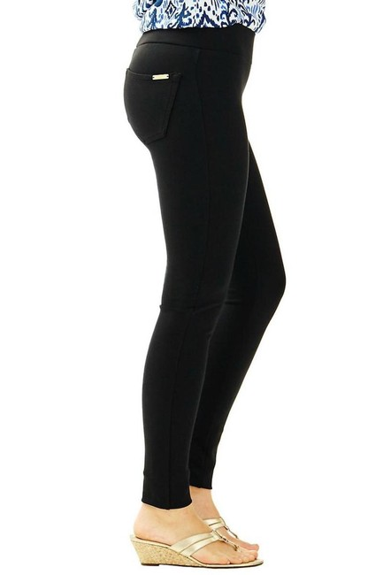 Lilly Pulitzer Black Mia Leggings Size 6 (S, 28) Lilly Pulitzer Black Mia Leggings Size 6 (S, 28) Image 1