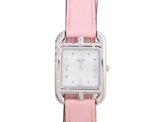 Item - Pink Stainless Steel Sapphire and Diamond Cape Cod Double Tour Watch