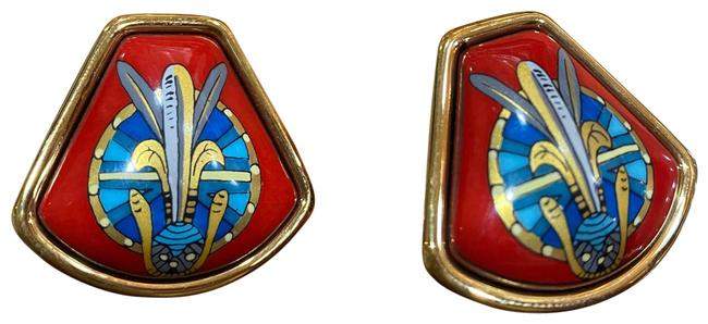 Item - Vintage Enamel Clip On Earrings