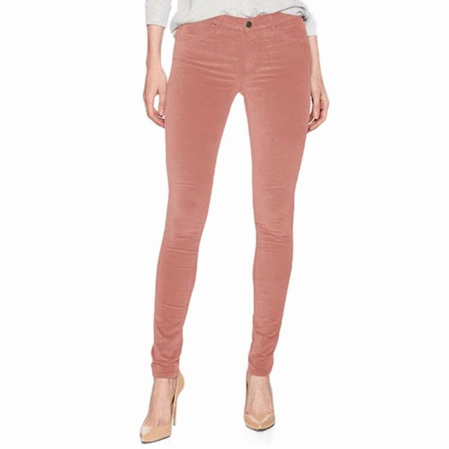 Item - Rose Gold Light Wash Legging Skinny Opulent Stretch Velveteen Straight Leg Jeans Size 8 (M, 29, 30)