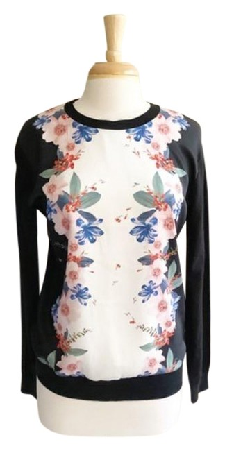 Item - Madiiey Pergola Floral Blue Black Sweater
