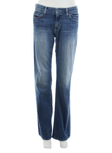 Item - Navy Mid Rise Boot Cut Jeans Size 31 (6, M)