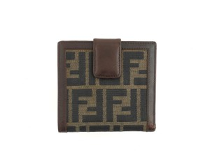 Item - Brown Clutch Zucca Monogram Canvas Leather Bifold Compact Snap Wallet