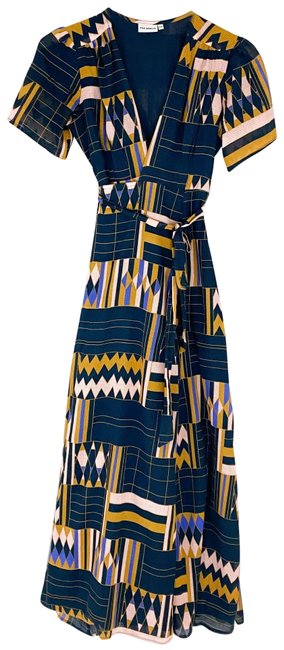 Item - Blue The Odells Wrap Maxi Color Long Cocktail Dress Size Petite 2 (XS)