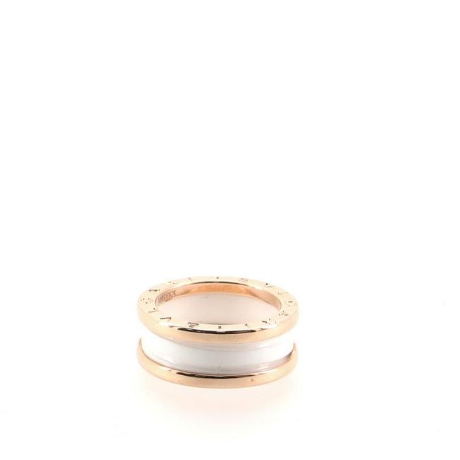 Item - 18k Rose Gold B.zero1 Two Band and Ceramic 6 - 52 Ring