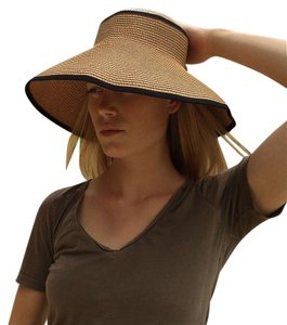 Made in Europe European Straw Adjustable Wide Brim Visor