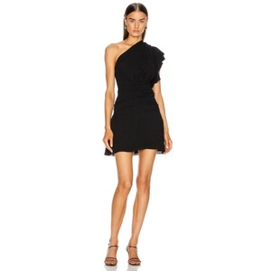 Item - Black XS Bonzac Draped One-shoulder  Cocktail Dress