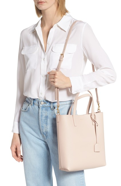 Item - Toy North/South Leather Tote Marble Pink Shoulder Bag