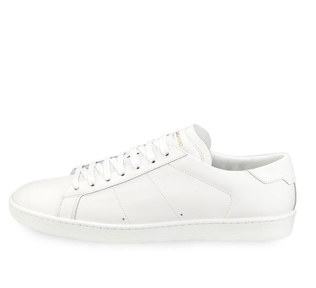 Item - White Ysl Sl/01 Court Classic Off Leather Low Top Lace Up Sneakers Size EU 38 (Approx. US 8) Regular (M, B)