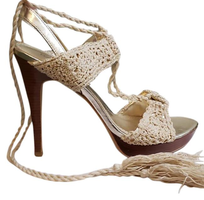 Item - Tan Summer Stiletto Pumps Size US 9 Regular (M, B)