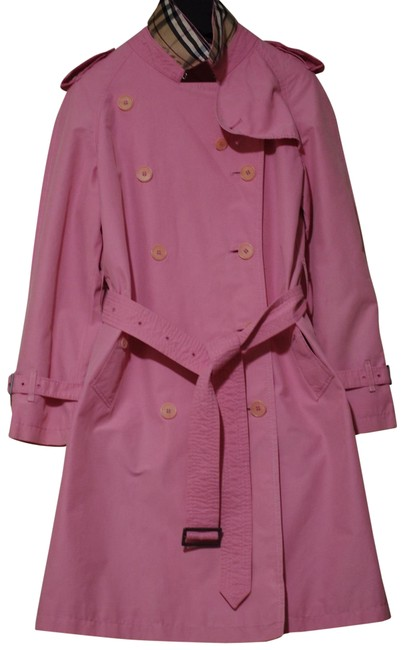 Item - Pink Caro Doublebreasted Women's Coat Size 6 (S)