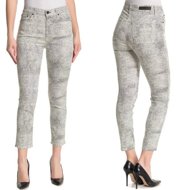 Item - White Reed Spotted Crop Ankle Skinny Jeans Size 25 (2, XS)