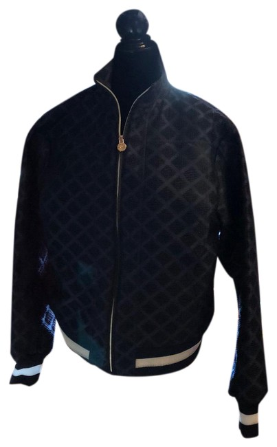 Item - Blue White Piping 2019 Bomber Activewear Size 12 (L)
