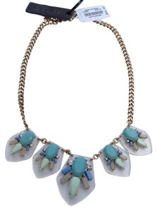 J.Crew J Crew Multi Color Lucite Jeweled Statement Necklace w/pouch